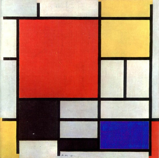 Piet Mondrian, 1926 - Composition in Red,Blue, Gold and Black