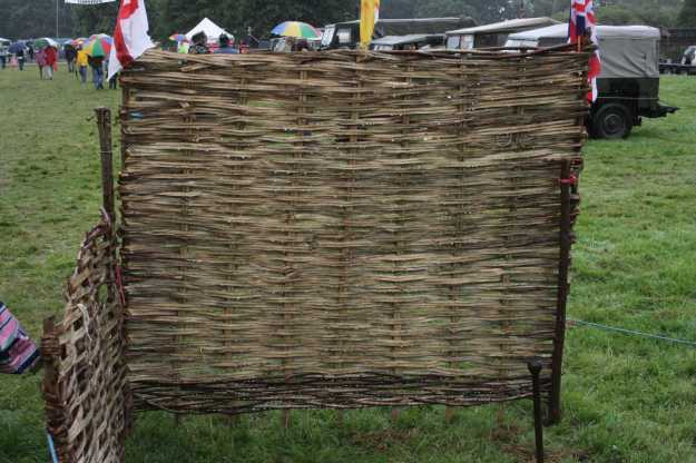 "A Wattle Hurdle (""Wattle hurdle"" by Richard New Forest - Own work. Licensed under CC BY-SA 3.0 via Wikimedia Commons - http://commons.wikimedia.org/wiki/File:Wattle_hurdle.JPG#mediaviewer/File:Wattle_hurdle.JPG)"
