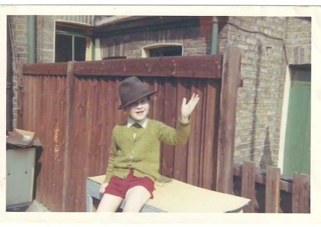 My little brother aged about 4 in 1966. What a long-suffering sibling he was. And is.
