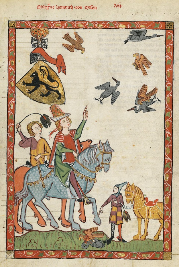 By Meister des Codex Manesse (Nachtragsmaler I) - http://digi.ub.uni-heidelberg.de/diglit/cpg848/0024, Public Domain, https://commons.wikimedia.org/w/index.php?curid=193745