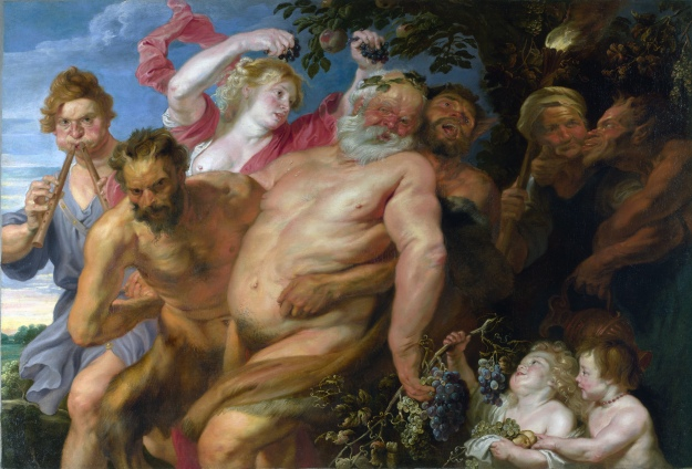 'Drunken Silenus Supported by Satyrs' - Anthony van Dyck. Public Domain.