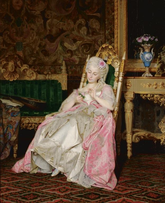 Giacomo di Chirico - 'He Loves Me, He Loves Me Not' - 1872