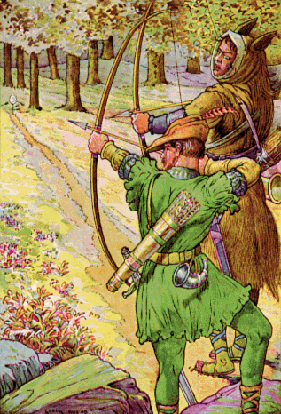 Robin Hood with Sir Guy by Louis Rhead, 1912