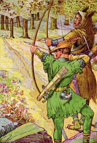Robin Hood with Sir Guy by Louis Rhead, 1912