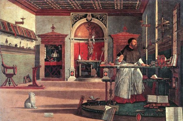 Vittore Carpaccio - The Vision of St Augustine (1509)