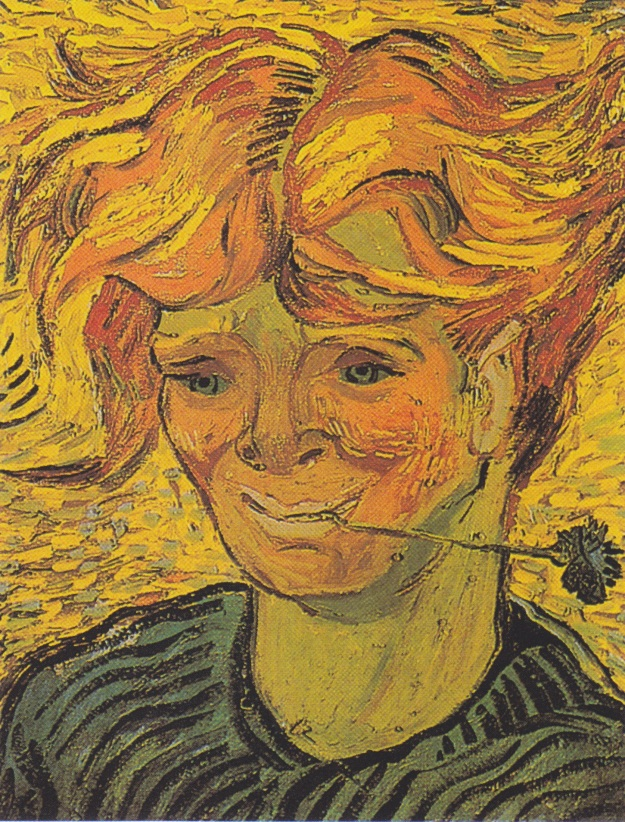 Portrait of a Young Man with Cornflower (1890) - Vincent van Gogh (Public Domain)