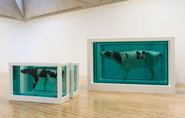 Photo Twelve from http://www.damienhirst.com/mother-and-child-divided-ex